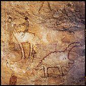 Cave painting Tassili N'Ajjer, Algeria