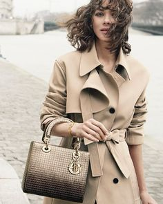 Here is another beautiful shot of actress Marion Cotillard in her new campaign for the 'Lady Dior' bag, photographed by Peter Lindbergh.
