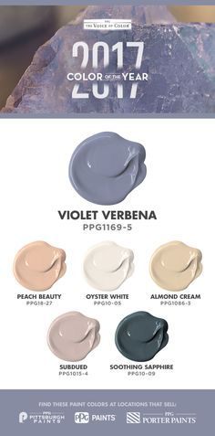 pittsburgh paints color ppg1015-4 subdued | 1000+ images about 2017 Paint Color of the Year - Violet Verbena on ... 2017 Colors, Pantone 2017 Colour, Home Colors, Pantone Paint, Color 2017, Furniture Trends For 2017, Living Room Trends 2017, 2017 Bedroom Trends, Kitchen Trends 2017