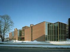 Lohja Main Library, Lohja, Finland - Lahdelma & Mahlamäki Architects Main Library, City Library, Red Brick Walls, Public Service, Pedestrian, Helsinki, Far Away, Finland, Netherlands