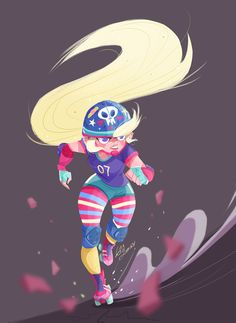 Roller derby girl! on Behance