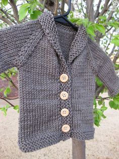 baby sweater patterns knit from the neck down | The design is a top down cardigan, with a picked up all-in-one button ...