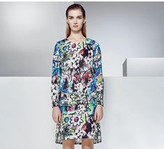 RIBERA 2015summr simplestyle print women's dress 6511010044-tmall.com