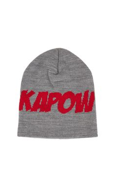 Kapow Slogan Beanie - Hats - Accessories - Topshop