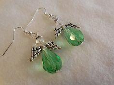 EARRINGS CHRISTMAS Earrings Light Green by AlWiredUpWithJewelry, $5.95
