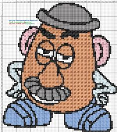 Mr. Potato Toy Story hama perler beads pattern - Dibujos Punto de Cruz