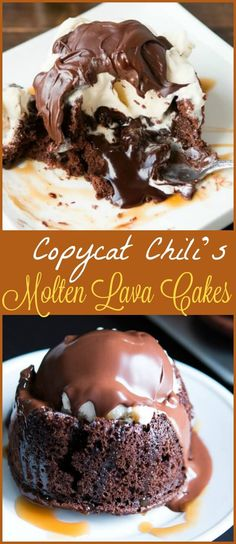 Copycat chili's molten lava cakes recipe is way easier to make than you probably think and that hot fudge oozing out is such a crowd pleaser! via @ohsweetbasil