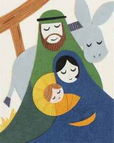 Peaceful Nativity Card