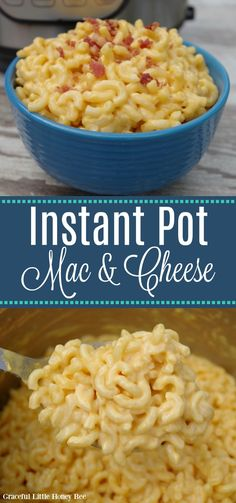 Make this Instant Pot Mac and Cheese using only four simple ingredients! Find the recipe at gracefullittlehoneybee.com #instantpot #macandcheese Best Instant Pot Recipe, Instant Recipes, Instant Pot Pressure Cooker, Pressure Cooker Recipes, Pressure Cooking, Vegan Recipes Easy, Crockpot Recipes, Delicious Recipes, Pasta Recipes