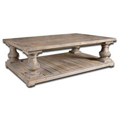 Stratford Stony Gray Wash Salvaged Wood Dining Table Uttermost Dining Tables Dining Tables