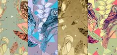 Collection of wallpaper designs by Sandra Dieckmann Of Wallpaper, Designer Wallpaper, Wallpaper Designs, Sandra Dieckmann, Environment, Sd, Illustration, Collection, Ideas