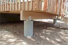Ashley White features most updated visuals of concrete deck footings on Wisatakuliner.xyz to give some options for concrete deck footings upgrade. Deck Footings, Concrete Footings, Pier And Beam Foundation, House Foundation, Deck Framing, Concrete Deck, Deck Posts, Floating Deck, Deck Construction