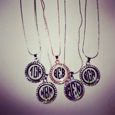 A personal favorite from my Etsy shop https://www.etsy.com/listing/228498440/monogram-floating-necklace