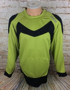 2c67c1d4219 Vintage Reusch Germany GK Goalkeeper Shirt Jersey Green Sz 2XL / XXL Mens |  eBay