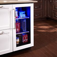 Hollywood kitchen with True Residential Undercounter Refrigerator with overlay panel Base Cabinets, Kitchen Cabinets, Tall Cabinet Storage, Locker Storage, Undercounter Refrigerator, Bar Areas, Small Kitchen Appliances, French Door Refrigerator, Swagg