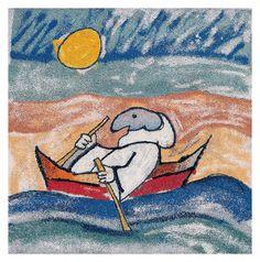 Pulcinella - Emanuele Luzzati Mosaico di riso - 2004