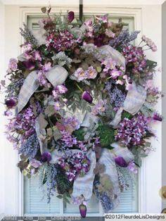 """GIMME THE BLUES!"""" FLEUR DE LIS DESIGNS! Everyday WINTER or SPRING Wreath! by fleur de lis designs"""