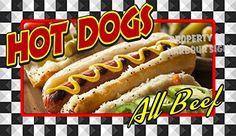 "Hot Dogs Concession Restaurant Food Truck Exterior Vinyl Decal (14"" x 8"") Harbour Signs http://www.amazon.com/dp/B01C105ZJM/ref=cm_sw_r_pi_dp_Oqgbxb12AGF9Y"