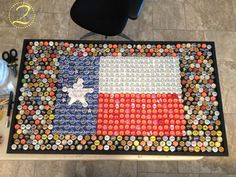 This is a crazy cool table adorned with bottle caps! You must see the full project here!