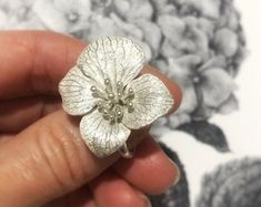Sterling Silver Flowers, Real Flowers, Gift For Lover, Personalized Jewelry, Handmade Silver, Silver Jewelry, Rings, Plant, Life