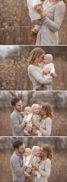 You don't need bright green trees and wildflower fields to make amazing looking family portraits!
