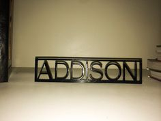 Custom Personalized Name Sign for Desk or Shelf by IronsideGarage