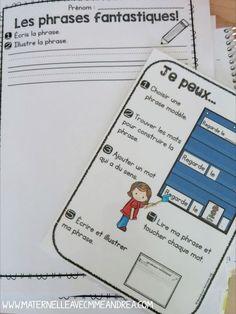 Comment utiliser votre tableau à pochettes comme centre d'apprentissage Centres d'apprentissage | Tableau à pochettes | Maternelle | Phrases prévisibles