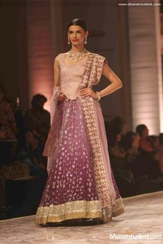 Lengha by Meera & Muzaffar Ali at Aamby Valley City India Bridal Fashion Week 2013