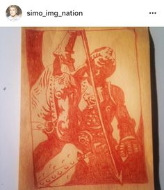 Saint George on butcher paper  #study #of #monuments #Mike #Mignola #Hellboy #style #butcher #paper #pencil #blood