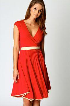 Polly Wrap Detail Sleeveless Dress $40