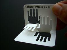 3D Business card series: interlocking hands - designed by Elod Beregszaszi