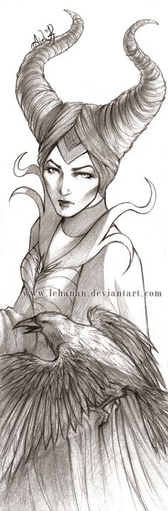 Maleficient sketch by Lehanan on deviantART