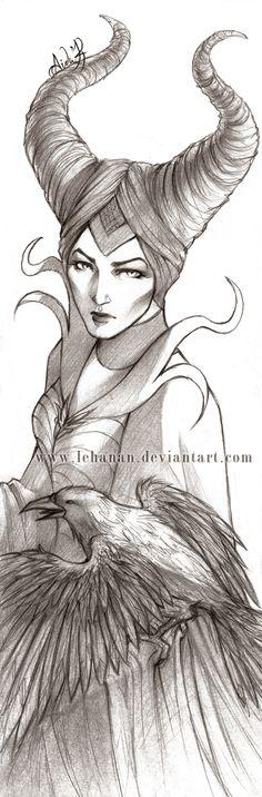 Maleficient sketch by Lehanan on deviantART