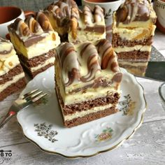 Mountain Cake, Delicious Desserts, Dessert Recipes, Tiramisu, Deserts, Food And Drink, Healthy Recipes, Healthy Food, Sweets