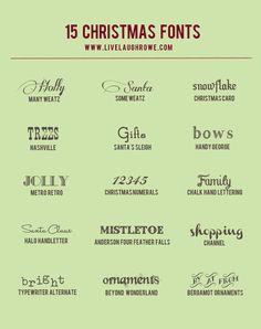 15 Fabulous Free Christmas Fonts. livelaughrowe.com