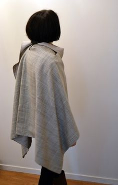 Funky Sunday / Tuto-couture: Le patron gratuit de la cape poncho. free sewing pattern, create, craft, wool, silk, how to, comment faire, hiver, winter, project
