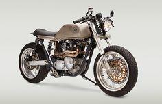Triumph T140 Bonneville Cafe Racer by Classified Moto #motorcycles #caferacer #motos | caferacerpasion.com