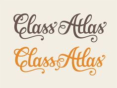 2 of the 4 final variants for the Class Atlas logo-type. Thanks to all the fantastic suggestions on the previous shot! I fixed up the spacing, the shape of the double 's', re-drew the connection be...
