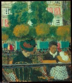 le Jardin des Tuileries Paris , Huile de Edouard Vuillard (1868-1940, France)