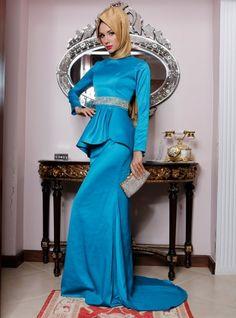 La taille 2 festonné Soirée Robe - Pièces Pinar
