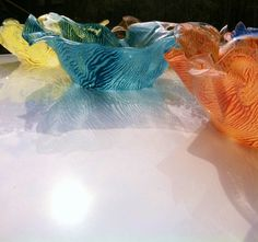Colorful bowl made from recycled water bottles hand by oceanarts10, $30.00