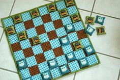 Day 5 - Bean bag checkers set.  Could teach simple sewing skills to an older child.  Take this to the park!