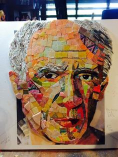 Lost In Picasso Mosaic portrait of Pablo Picasso by theartofmosaic