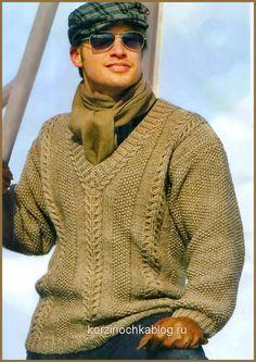 Мужской пуловер cV-образным вырезом - Почта Mail.Ru