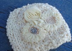 Little Knit Sparkle Hat for Baby Beautiful by LittleKnitLovey, $25.00