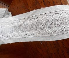 Swiss Embroidered Wide Eyelet Insert Lace 4 by AlderHillFarm