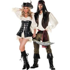 Rouge Pirates Couples Costumes