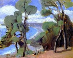 nice-art: Henri Matisse - The Beach at Nice, View from the Château (1918) instagram.com/nicevisions