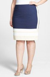 Halogen® Pencil Skirt (Plus Size)