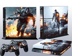 PS4 skins battle field 4 vinyl decal BF4 cover for Sony playstation 4 console Playstation Consoles, Ps3, Battle Field, Sticker, Decals, All Video Games, Custom Consoles, Ps4 Skins, Pop Games